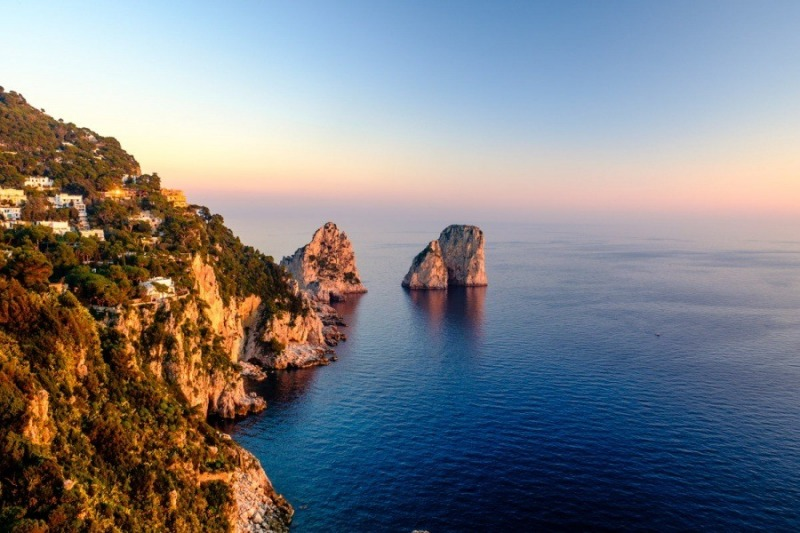 The Faraglioni at Sunset, Capri