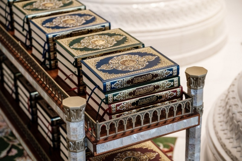 Qurans, Sheikh Zayed Grand Mosque, Abu Dhabi, UAE