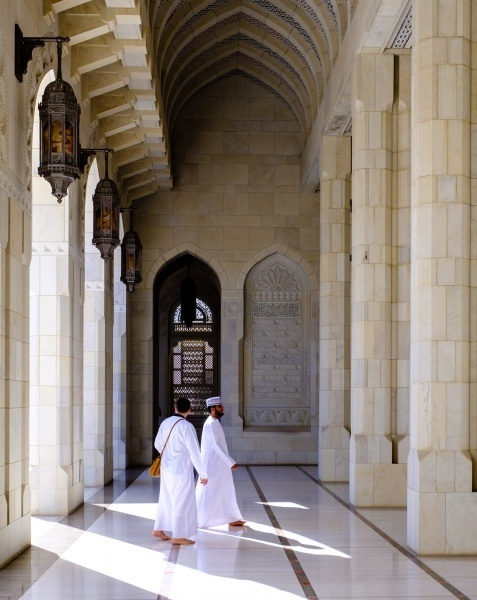Inside the Sultan Qaboos Grand Mosque, Muscat