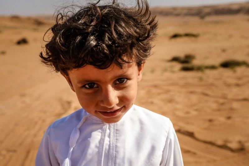 Mischievous Bedouin Boy, Wahiba Sands