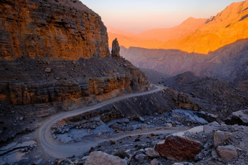 Mountain road in Musandam