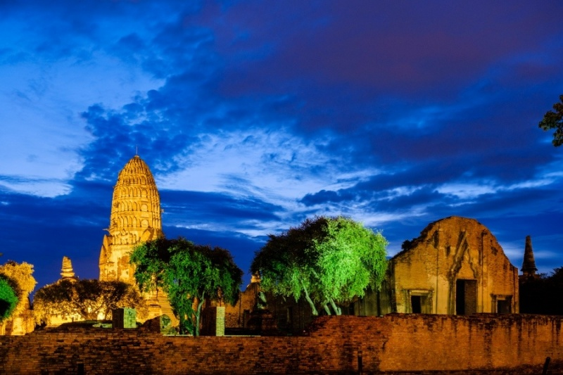 Ayutthaya at night