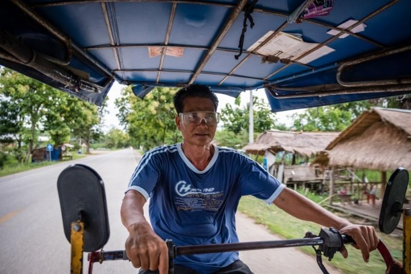 Rickshaw driver, Sukhothai