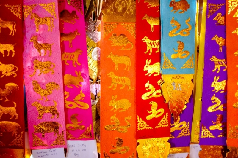 Chinese Zodiac ribbons, Chiang Mai