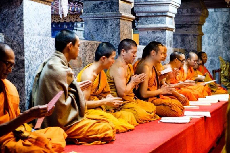 Monks, Wat Phra That Doi Suthep, Chiang Mai