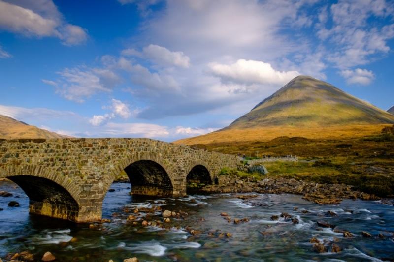 Sligachan Old Bridge and Glamaig, Isle of Skye, Scotland
